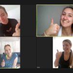 Die 1. Damen-Mannschaft beim gemeinsamen Workout